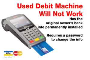 BUY A NEW POS DEBIT MACHINE WITH YOUR BANK ACCOUNT IN IT $0.05 For debit + Visa starts at 1.62% You can buy DeskTop debit machine for $375 on your credit card. Or two payments of $250 You can buy Wireless debit machine for $475 on your credit card. Or two payments of $300 POS terminals Toronto Via Lease - $300 Signing Bonus $29.99 For the deskTop POS debit Machine $39.99 For Wireless Payment POS
